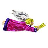 figuur van blik engel trompet roze