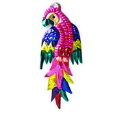 figuur van blik papegaai roze