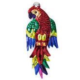 figuur van blik papegaai rood