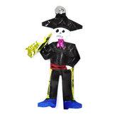 figuur van blik skelet trompet