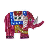 magneetje van blik olifant rood