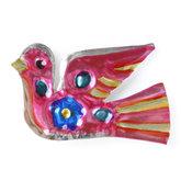 magneetje van blik duif roze