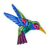 magneetje van blik vogel groen