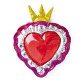 magneetje van blik hart roze