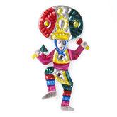 magneetje van blik mexicaanse danser