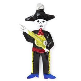 figuur van blik skelet gitaar