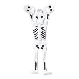 figuur van blik skelet met schedels