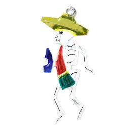 figuur van blik skelet danser
