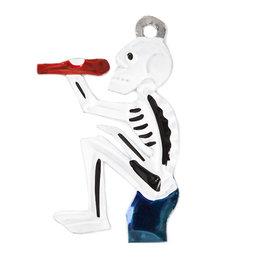 figuur van blik skelet borracho blauw