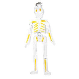 figuur van blik skelet geel