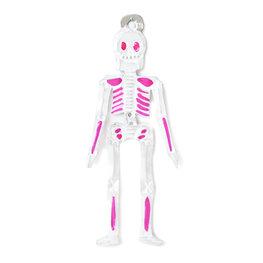 figuur van blik skelet roze