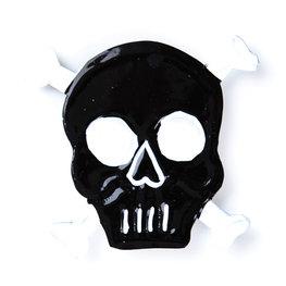 magneetje van blik schedel bot zwart