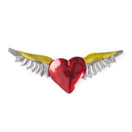 magneetje van blik hart vleugels