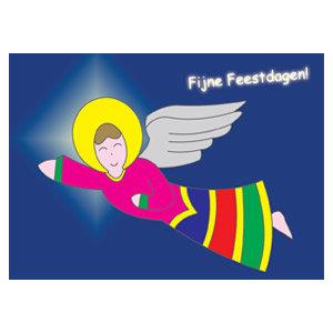 kerstkaart engel