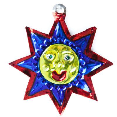 figuur van blik zon blauw
