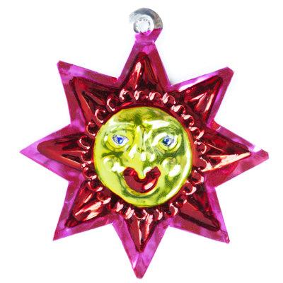 figuur van blik zon rood