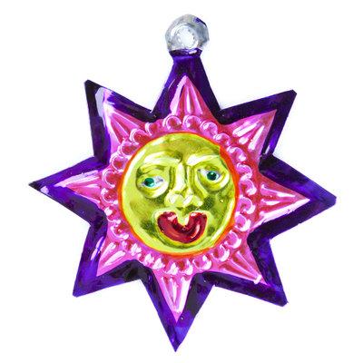 figuur van blik zon roze