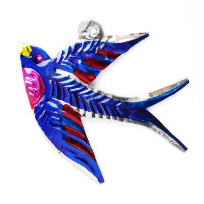 figuur van blik zwaluw blauw