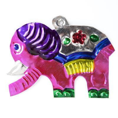 figuur van blik olifant kind roze