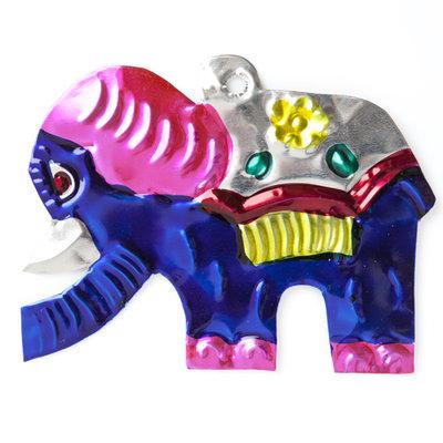 figuur van blik olifant kind blauw