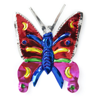figuur van blik vlinder rood