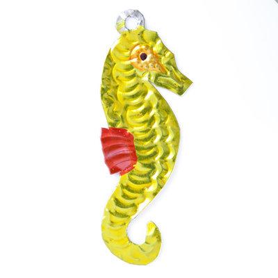 figuur van blik zeepaard geel