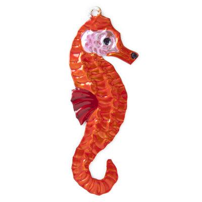 figuur van blik zeepaard oranje