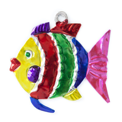 figuur van blik vis bol