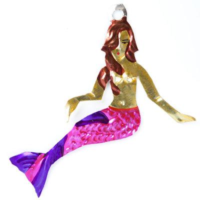figuur van blik zeemeermin roze