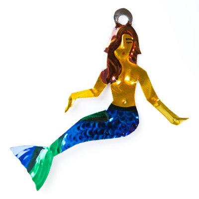 figuur van blik zeemeermin blauw