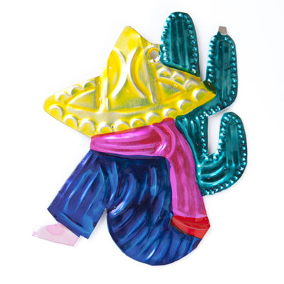 figuur van blik mexicaan cactus