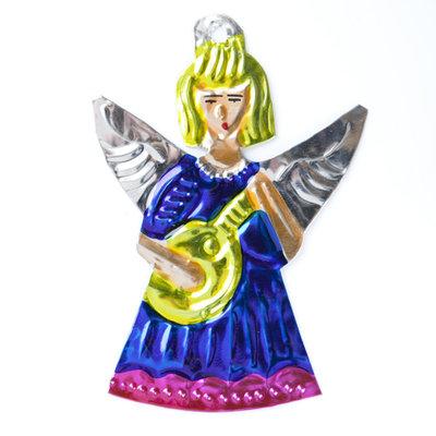 figuur van blik engel muziek blauw