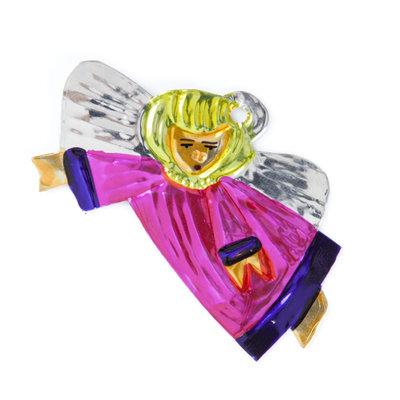 figuur van blik engel zijwaarts roze