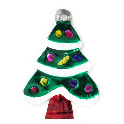 figuur van blik kerstboom groen