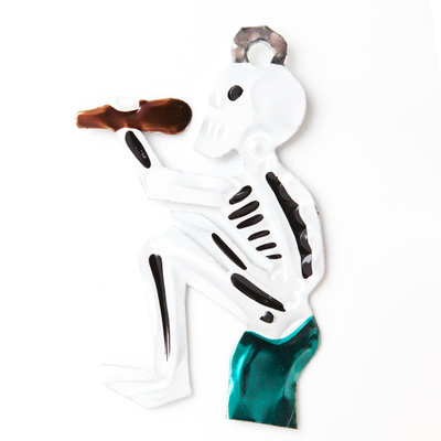 figuur van blik skelet borracho groen