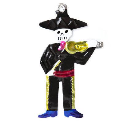 figuur van blik skelet viool