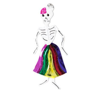 figuur van blik skelet danseres
