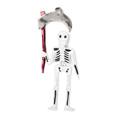 figuur van blik skelet zeis