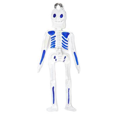 figuur van blik skelet blauw