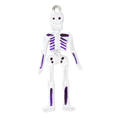 figuur van blik skelet paars