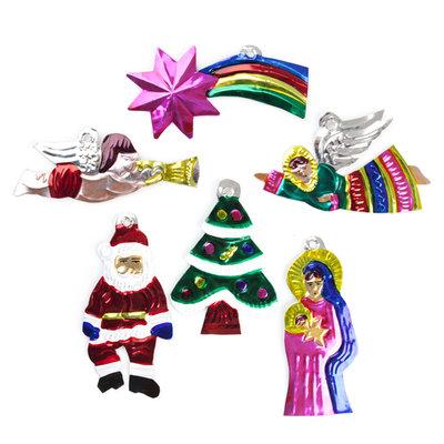 figuren van blik kerst