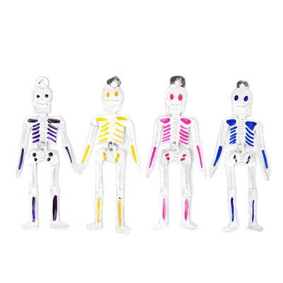 figuren van blik kleurrijke skeletten