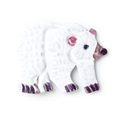 magneetje van blik ijsbeer wit