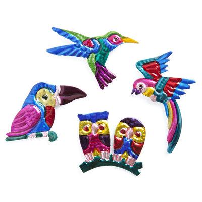 magneetjes van blik vogels
