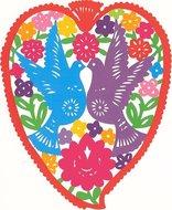 valentijnskaart hart duiven