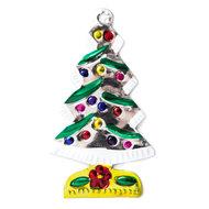 figuur van blik kerstboom zilver luxe