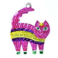 figuur van blik kat roze
