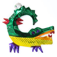 figuur van blik krokodil
