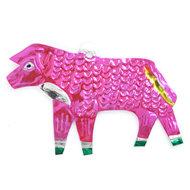 figuur van blik schaap roze