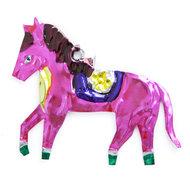 figuur van blik paard roze
